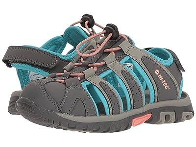 Hi-Tec Kids Cove II (Toddler/Little Kid/Big Kid) (Cool Grey/Curacao Blue/Papaya Punch) Girls Shoes