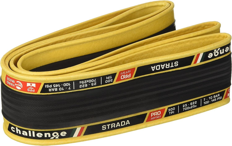 Challenge Strada Open Tubular Clincher Road Bicycle Tire (Black Tan - 700 x 25)