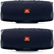 JBL Charge 4 Portable Waterproof Wireless Bluetooth Speaker Bundle - (Pair) Black
