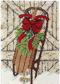 X-xyA Latch Hook Kit for Adults - Christmas Latch Hook Kits Making Crochet Needlework Crafts Cross Stitch for Home Decorative