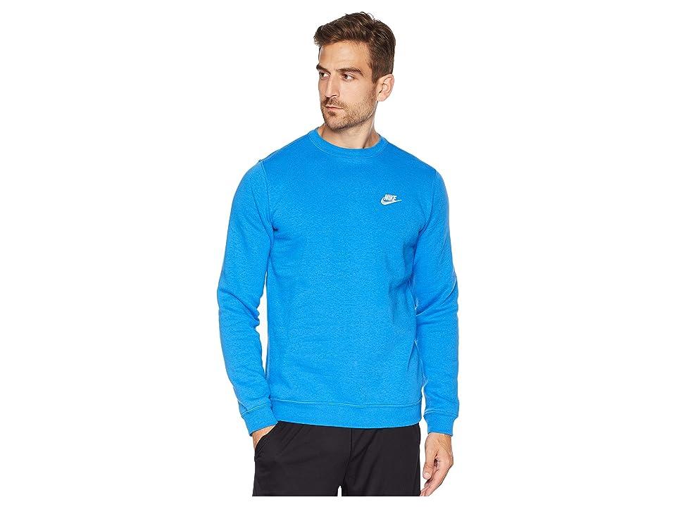 Nike Club Fleece Pullover Crew (Signal Blue/White) Men