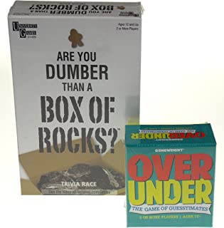 Over Under Game & are You Dumber Than A Box of Rocks Game Bundle