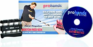 Prohands for Hitting Hand Exerciser Baseball Edition, with 21-Minute DVD Featuring David Magadan