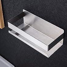 Ruicer Estanteria Baño, Rinconera de baño Cesta triangular Bandeja para pared de ducha Adhesivo en pared sin daños para accesorios de baño y cocina