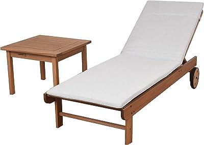 Amazon.com : Great Deal Furniture Daisy Outdoor Teak Finish ...