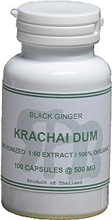 Tongkatali.org's Krachai Dum Extract 1:60 100 Capsules 500 mg