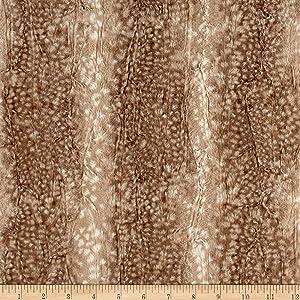 E.Z Fabric Minky Ocelot Snuggle Fawn Fabric by The Yard,