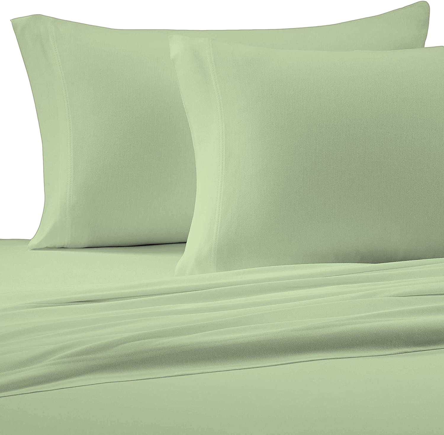 Brielle Cotton Jersey Knit (T-Shirt) Sheet Set, Full, Sage