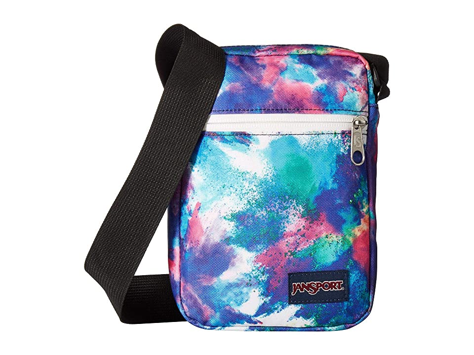 The JanSport Weekender is the perfect handbag for those vacation when it seems like you are walking for miles! Durable polyester construction. Zipper closure. Adjustable crossbody strap. Exterior boasts a front zipper pocket. Lined interior features plenty of room for the essentials. Imported. Measurements: Depth: 2 in Height: 8 in Strap Length: 48 in Strap Drop: 24 in Weight: 4 oz