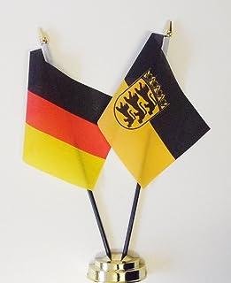 "Duitsland en Baden State Crest Vriendschap Tafelvlag Display 25cm (10"")"