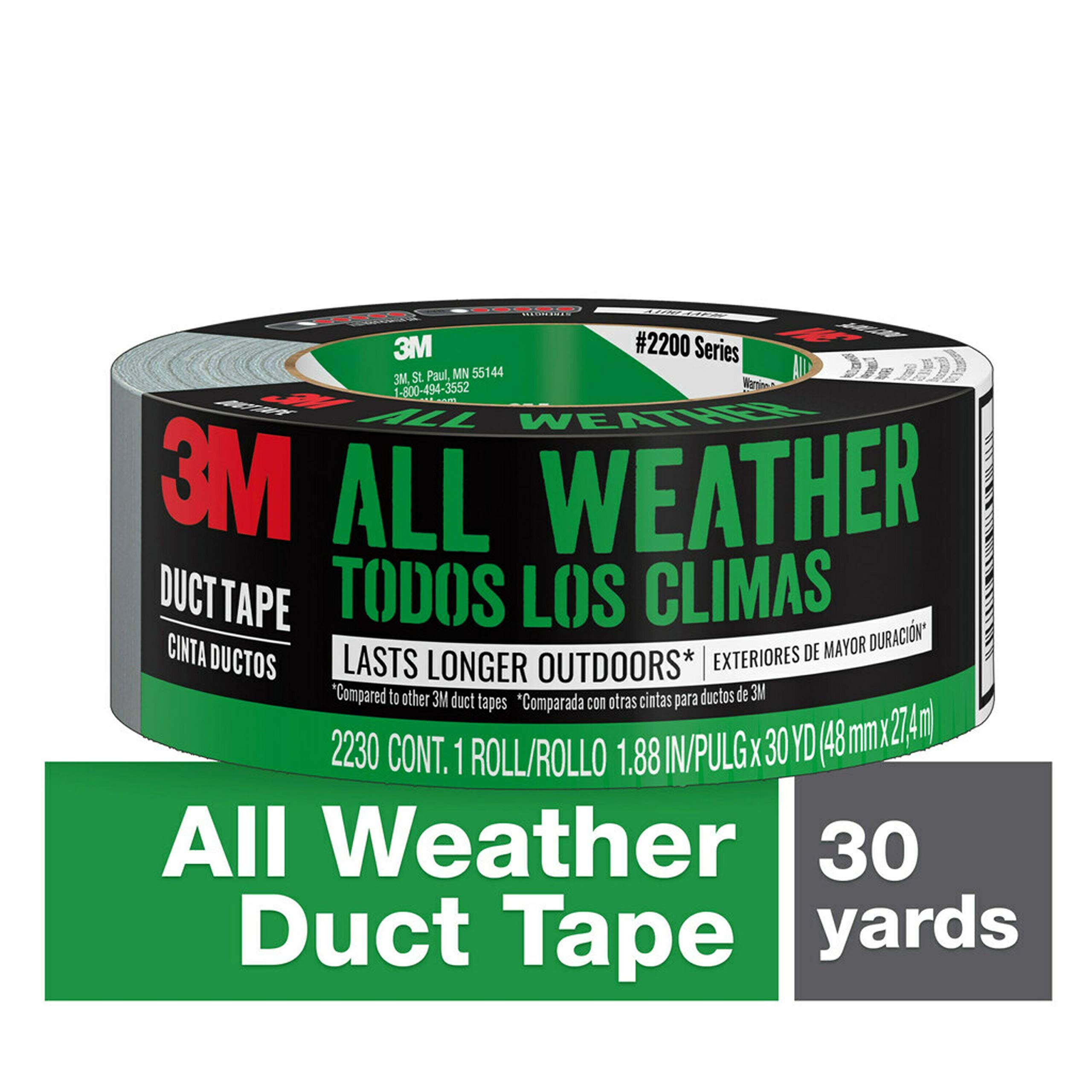 2930-C 1.88 Inches by 30 Yards 3M Multi-Use Duct Tape