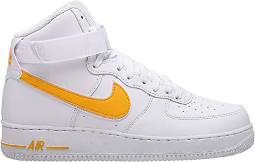Nike Nike Hommes's Air Force 1 High '07 3 Basketball paniers, blanc University or  plus d'ordre
