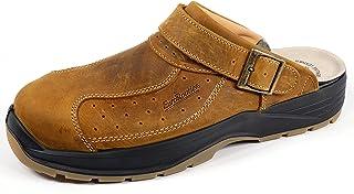 EuroRoutier Premium Leather Tucson Brown, Sabots de Sécurité SB+A+E+FO+SRC
