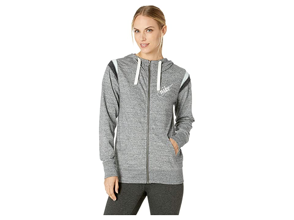 Nike Gym Vintage Hoodie Full Zip HBR (Carbon Heather/Sail) Women