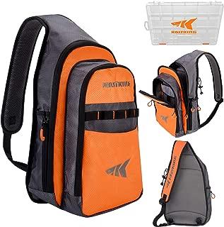 KastKing Outdoor Sling Bag Lightweight Single Shoulder Bag Waterproof Fishing Tackle Bag Crossbody Fishing Backpack for Fishing, Hiking, Camping