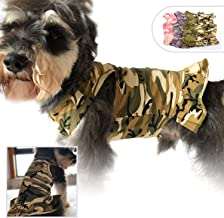 Lovelonglong Pet Clothing Small Dog Clothes Camouflage Sport Dress T-Shirts Tee Dresses Tanks Top for Small Size Female Dogs Summer Spring Pet Costumes 100% Cotton