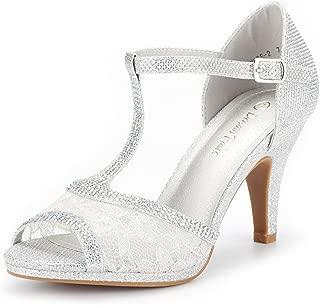 Best silver open toe pumps Reviews