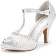 DREAM PAIRS Women's Amore Fashion Stilettos Open Toe Pump Heel Sandals