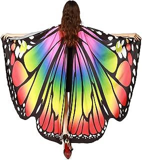 Women Halloween Soft Cloak Cape Costume Butterfly Wings Shawl