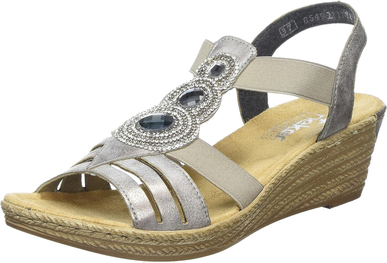 Women's Rieker, 62459 Mid Heel Wedge Sandal