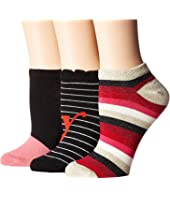 Kate Spade New York - Foxy Lady 3-Pack No Show Socks