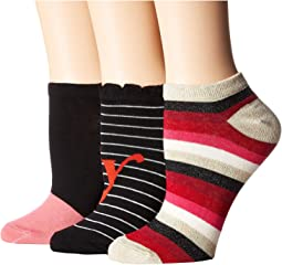 Foxy Lady 3-Pack No Show Socks