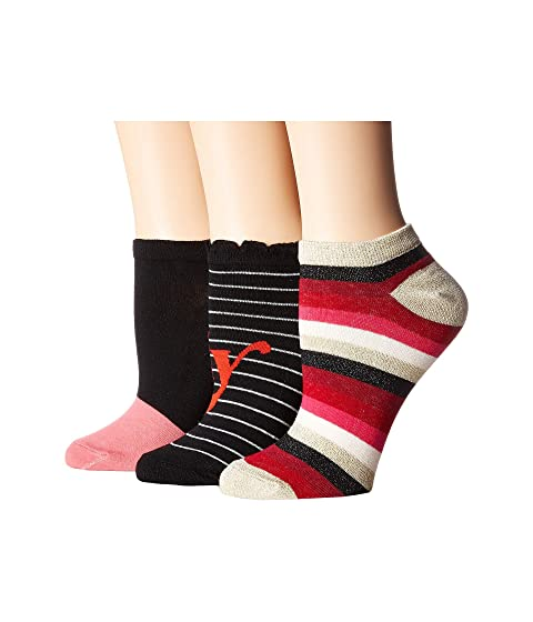 Kate Spade New York Foxy Lady 3-Pack No Show Socks At