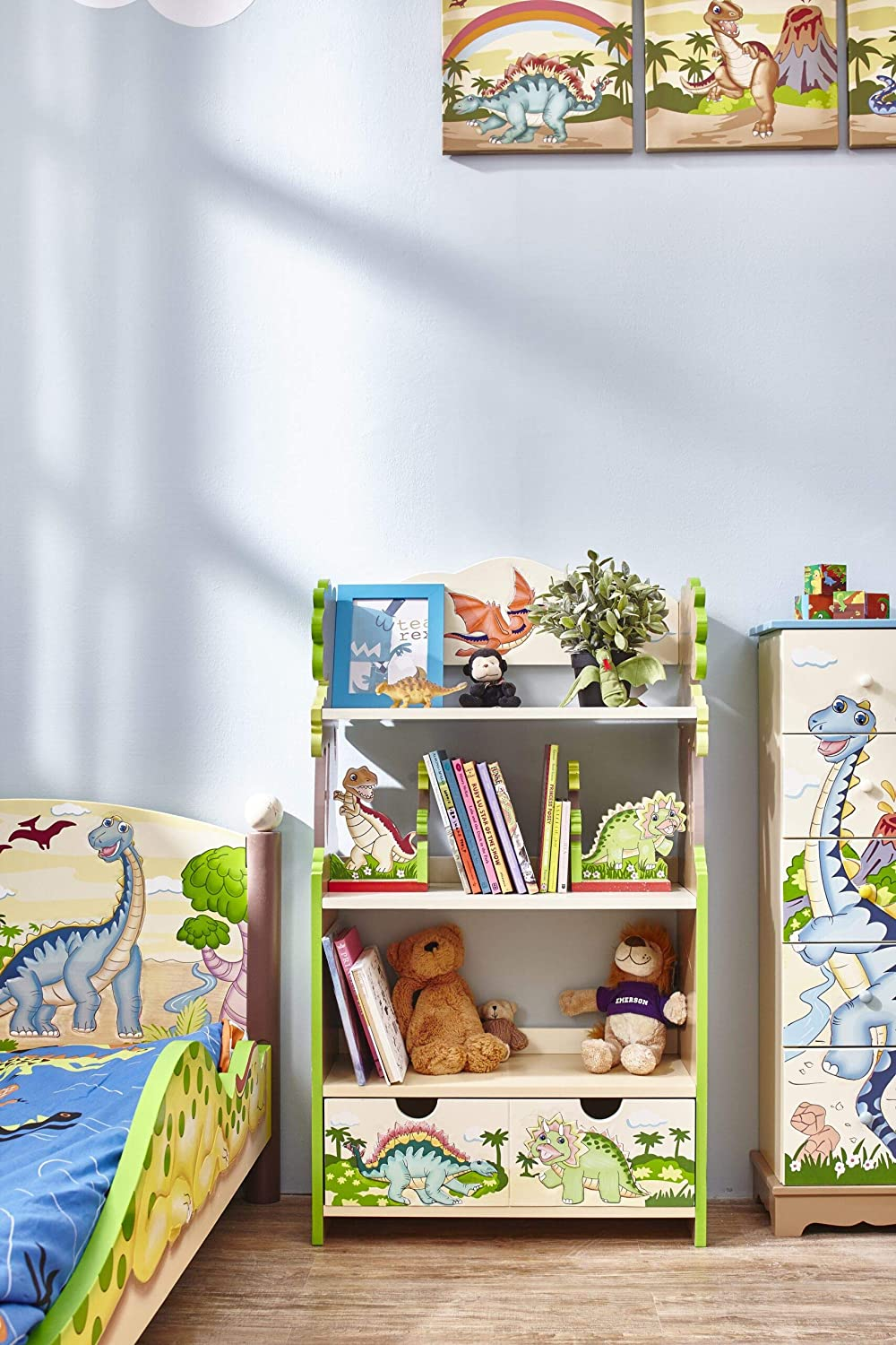 Fantasy Fields Sales Super intense SALE of SALE items from new works - Dinosaur Kingdom Kids Wooden Bookcase Thematic