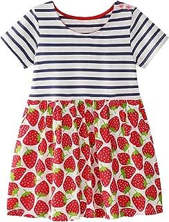 Kids Girls Cotton Dresses Girl Long Sleeve Cartoon Dress Baby Cute Dress Toddler Dinosaur Dresses