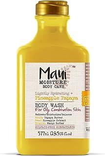 Maui Moisture Pineapple Papaya Creamy Body Wash 19.5 Ounce, Moisturizing Body Wash Formulated for Oily Skin Normal Skin Co...