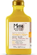 Maui Moisture Pineapple Papaya Creamy Body Wash 19.5 Ounce, Moisturizing Body Wash Formulated for Oily Skin Normal Skin Combination Skin, with Aloe Vera Juice and Coconut Water, Silicone Free