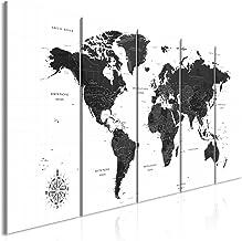 Poster Weltkarte Schwarz Weiss