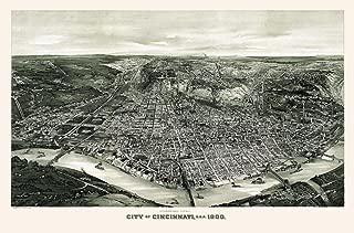 Historic Map of Cincinnati Ohio 1900 Brown County (18x24 Paper Poster)
