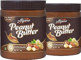 Alpino Peanut Butter Chocolate 2 KG (Gluten Free / Non-GMO / Vegan) (1 KG Pack of 2)