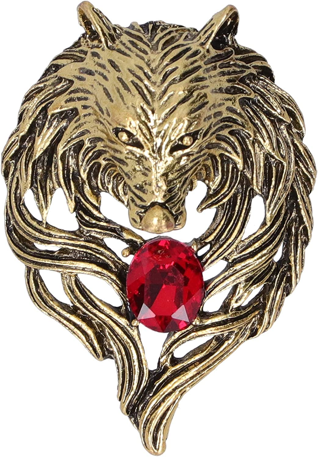 Brooch Head Lion Head Lapel Pin Jewelry for Women Men Animal Brooches for Gift Party Girlfriend,Painted