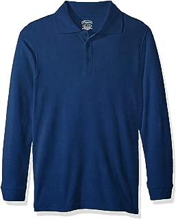 Classroom School Uniforms Boys' Big Youth Unisex Long Sleeve Interlock Polo, sos Royal Blue, M