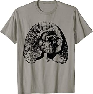 Vintage Anatomy Heart and Lungs Tee T-shirt