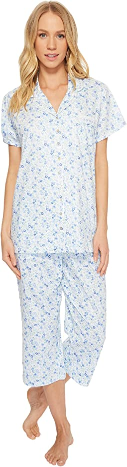 Eileen West Notch Collar Capris PJ Set