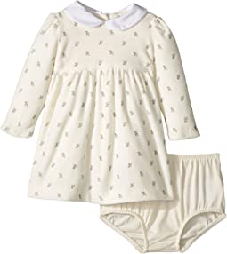 Ralph Lauren Baby - Floral Velour Dress & Bloomer (Infant)