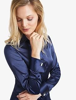 glossy satin blouse