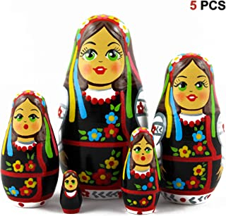 MATRYOSHKA&HANDICRAFT Ukrainian Nesting Dolls 5 pcs Wooden Souvenir