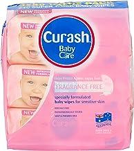 Curash Fragrance Free Baby Wipes 3X80 PK