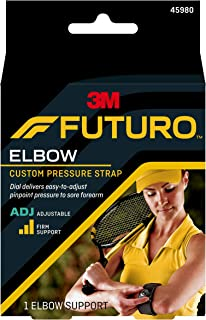 Futuro Sport Custom Dial Tennis Elbow Strap, Firm Stabilizing Support, Adjust to Fit