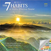 7 Habits of Highly Effective People Calendar 2020 Bundle - Deluxe 2020 Wall Calendar with Over 100 Calendar Stickers (Motivational Gifts, Office Supplies)
