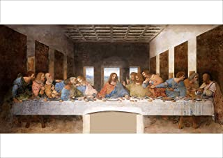 "【Made in Japan】 Poster Leonardo Da Vinci ""The Last Supper""16.53inch×23.38inch(A2)<fine Art Paper Print>Print on a Thick Sh..."