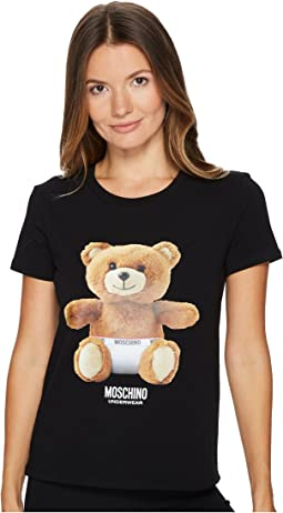 Moschino - Jersey Stretch Moschino Bear T-shirt