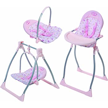 Baby Annabell 3-in-1 Highchair with Swing and Comfort Seat ...