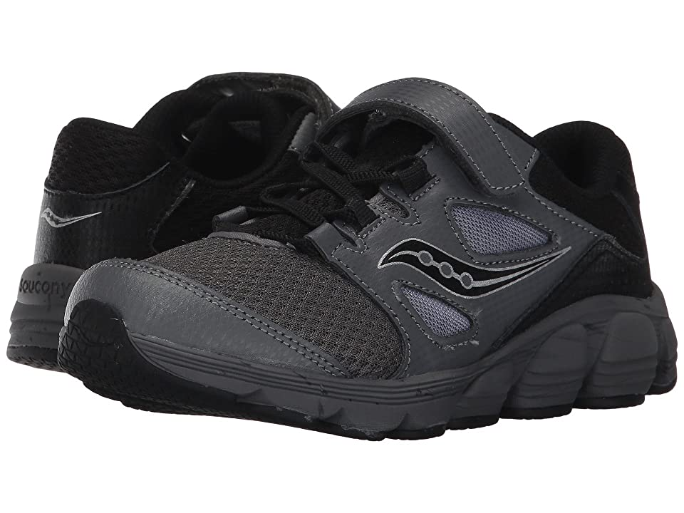 Saucony Kids Kotaro 4 A/C (Little Kid/Big Kid) (Black/Grey) Boys Shoes