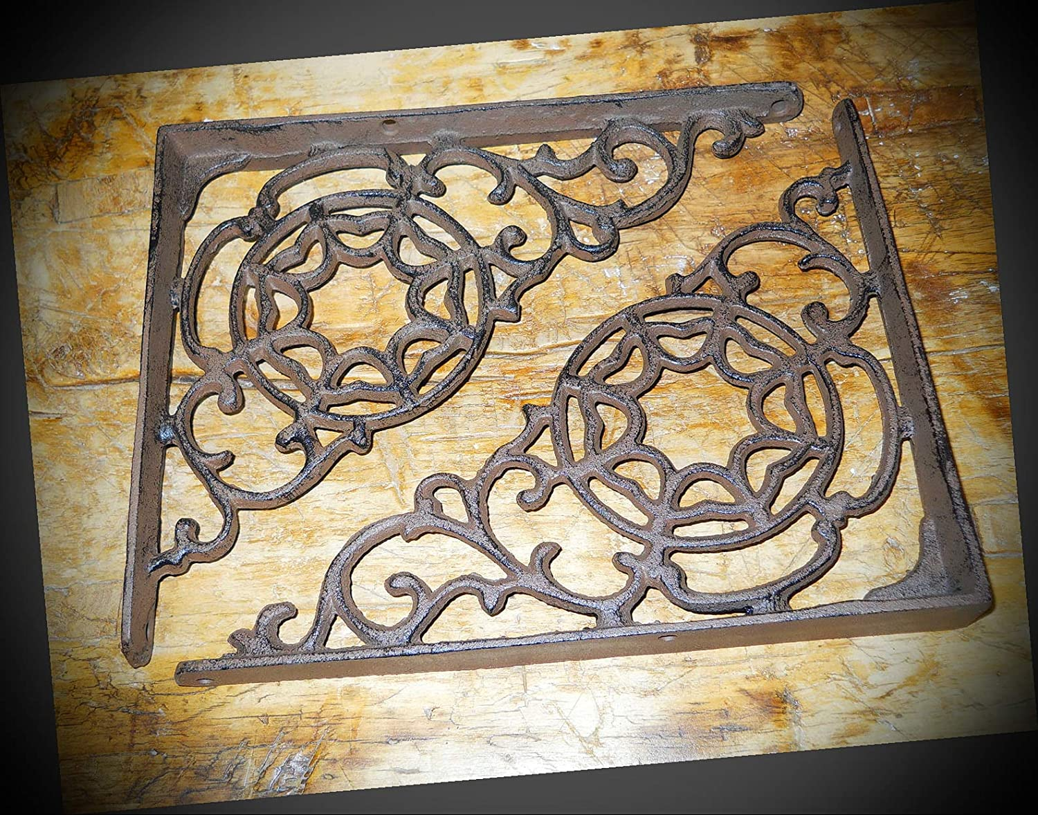 NewSSign Special price for a limited time Lot of 4 Vintage Rustic shipfree Iron Large Cast W Style Antique