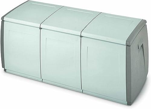 Terry in & Out Box 140 Coffre Multifonctionnel pour Intérieur et Extérieur, Gris, 139x54x57 cm